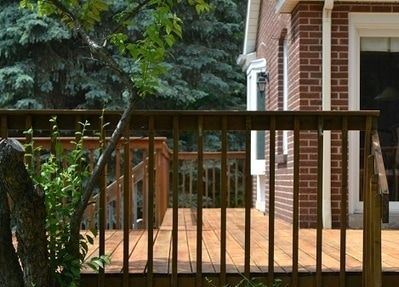 Vaughan deck with deyailed finished railing Toronto